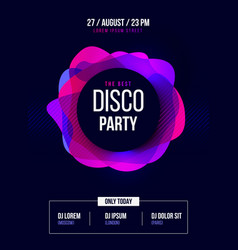 party flyer club music poster dj lineup vector image