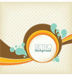 retro template vector image vector image