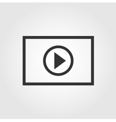 Video player icon flat design vector image vector image