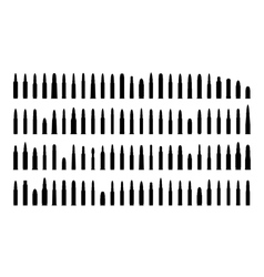 ammunition silhouettes set vector image vector image