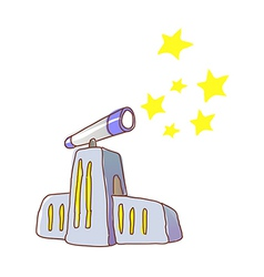 An observatory in the city vector image