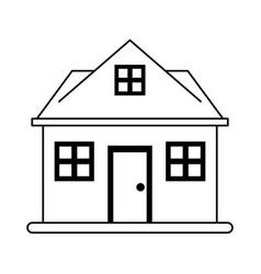 facade house of plants vector image