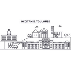 france toulouse architecture line skyline vector image