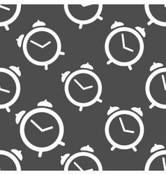 Pattern seamless with alarm clock vector image vector image