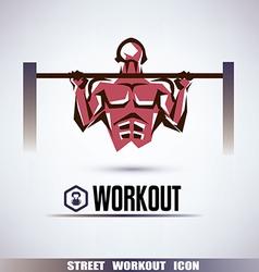 Street workout symbol vector