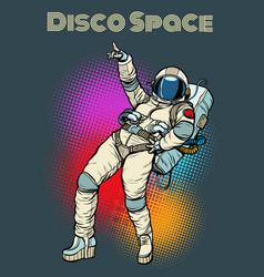 astronaut woman dancing disco vector image vector image