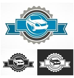 Auto sign award vector image vector image