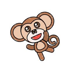 drawing monkey animal character vector image