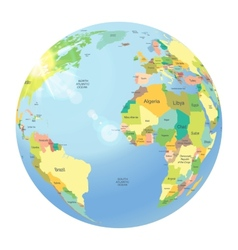 Globe isolated on white vector image
