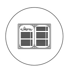 menu of the restaurant icon in outline style vector image