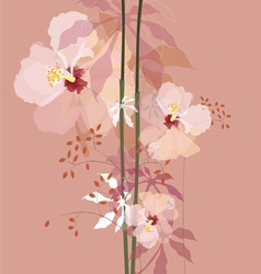 natural flowers bouque vector image vector image