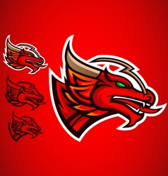 red dragon emblem logo vector image vector image