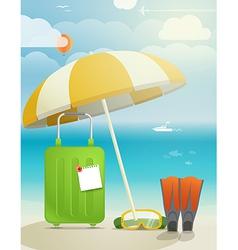 Sunny coast vector image vector image