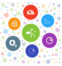 7 formula icons vector