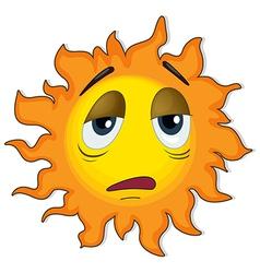 A tired sun vector image