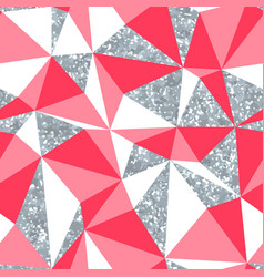 abstract geometric seamless pattern with silver vector image