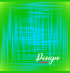 abstract green background with blue shining lines vector image