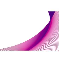 Abstract pink wave dark background vector