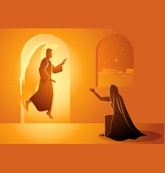 annunciation to blessed virgin mary vector image