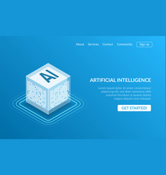 artificial intelligence icon ai isometric cloud vector image