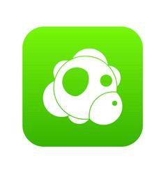 atom icon digital green vector image