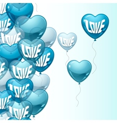 Background with flying balloons in the shape vector