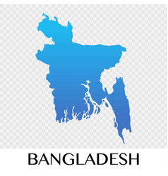 Bangladesh map in asia continent design vector