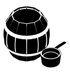 Barrel honey icon simple black style vector