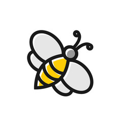 bee graphic design template vector image