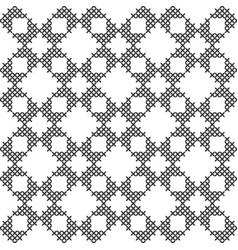Black and white geometric pattern imitation cross vector