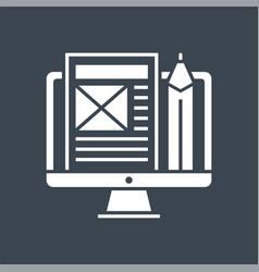 Blog management glyph icon vector