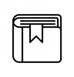 Book Outline Icon vector
