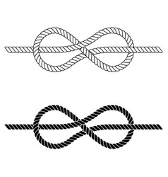 braided rope is tied in a sea knot vector image