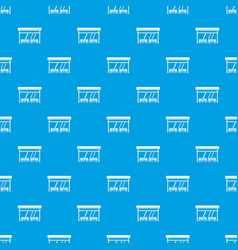 Bus stop pattern seamless blue vector