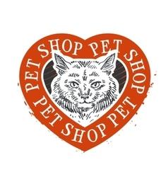 cat food logo design template pet shop or vector image vector image