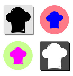 chef cap flat icon vector image