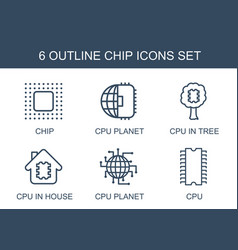 chip icons vector image