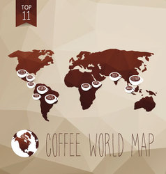 Coffee map vector