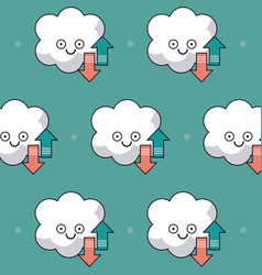 Colorful background with pattern animated cloud vector