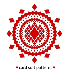 Diamond card suit pattern vector
