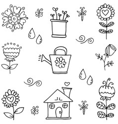 Doodle of spring object hand draw vector