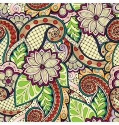 Doodle seamless pattern in with doodles vector