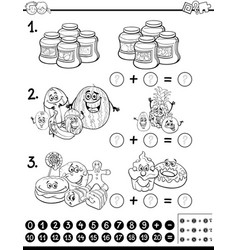 educational activity coloring page vector image