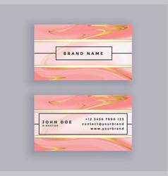 elegant premium marble business card design vector image