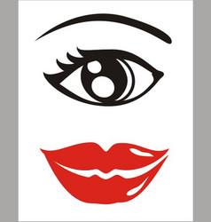 Eye and lips vector