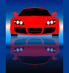 Fast car front end vector