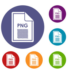 File png icons set vector