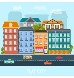 Flat city design vector