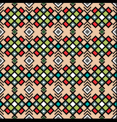 geometric pattern in vitnage colors vector image