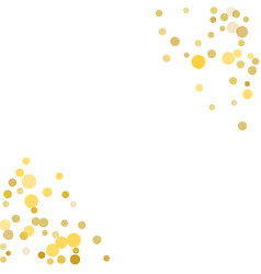 golden confetti on white background vector image